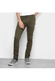 Calça Sarja Skinny Reserva Color Masculina - Masculino-Verde Militar