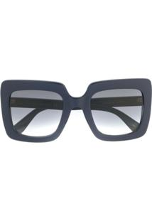 Gucci Eyewear Óculos De Sol Oversized - Azul