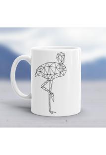 Caneca Porcelana Wevans Escandinavo Flamingo