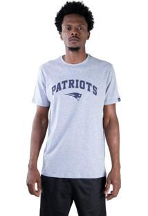 T-Shirt New Era Regular New England Patriots Mescla Cinza