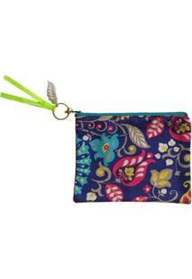 Necessaire Ania Store Tropical Feminina - Feminino-Azul