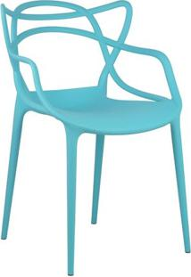 Cadeira Masters Azul Tiffany Em Polipropileno