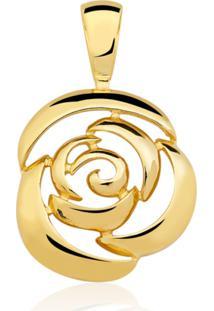 Pingente Toque De Joia Rosa Dourado - Kanui