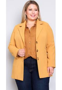 Casaco Plus Size Toda Estilosa - Palank Amarelo