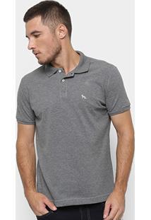Camisa Polo Acostamento Masculina - Masculino-Mescla Escuro