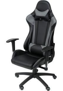 Cadeira Office Gamer- Preta & Cinza- 135X46X51Cmor Design