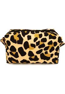 Necessaire Nita Faco Barletta Mini Leopardo Mostarda