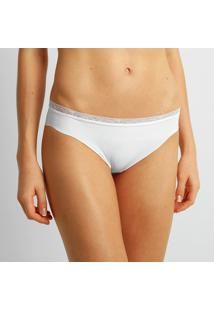 Calcinha Tanga Liz Renda - Feminino-Branco