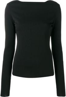 Givenchy Suéter Com Detalhe De Renda - Preto