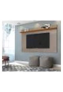 Painel Para Tv Até 60 Polegadas Lorenzo 1.8 Fendi E Naturale