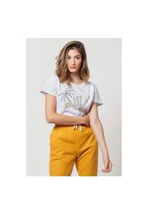 Camiseta Jay Jay Basica Hand Beach Branca Dtg