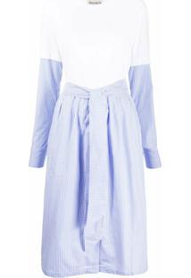 Être Cécile Vestido Reto Midi - Branco