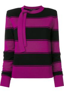 Marc Jacobs Suéter Listrado De Lã - Rosa
