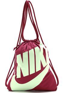Mochila Nike Sportswear Gymsack Heritage Vinho