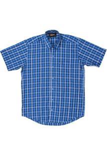Camisa Masculina Fast Back Manga Curta - Masculino-Azul