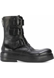 Marsèll Ankle Boot Com Fivela - Preto