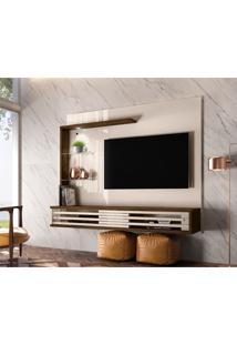 Painel Para Tv Até 50 Polegadas Frizz Select Off White E Savana