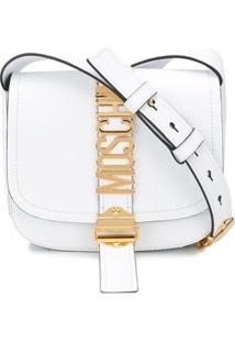 Moschino Bolsa Tiracolo Com Logo De Letra - Branco