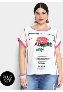 7fede64e7d Blusa Holin Stone Plus Size Estampada Feminina - Feminino