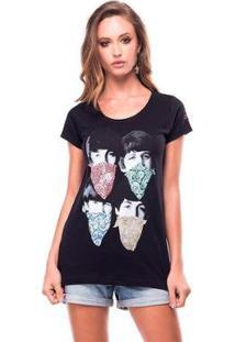 Camiseta Scarves Useliverpool Feminina - Feminino-Preto