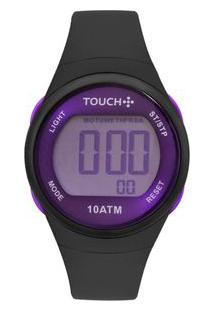 Relógio Touch Feminino Ela É Fit Ela Cinza