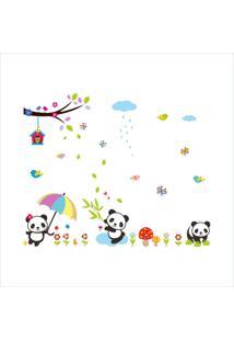 Adesivo De Parede Divanet Urso Panda Bebe Colorido