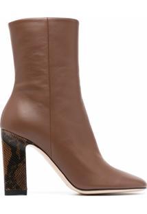 Wandler Ankle Boot Com Zíper - Marrom