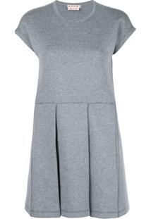 Marni Pleated Skirt Dress - Cinza