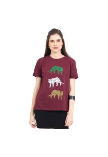 Camiseta Tri Cheetah 41Onze Vinho