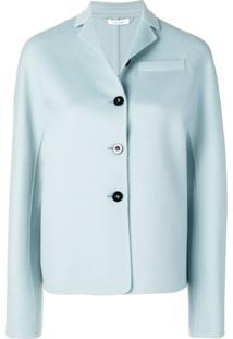Jil Sander Buttoned Jacket - Azul