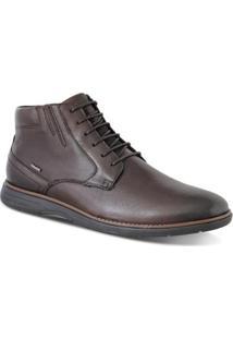 Sapato Casual Ferracini Trindade Masculino - Masculino-Marrom Escuro+Preto