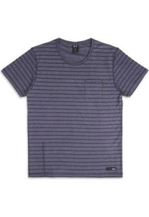 Camiseta Oakley Especial Cold Striped Sp Tee - Masculino-Azul
