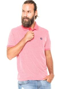 Camisa Polo Mr Kitsch Maga Curta Essential Rosa
