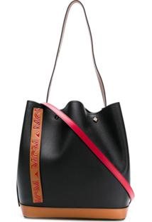 Mcm Drawstring Shoulder Bag - Preto