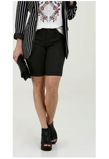 Bermuda Feminina Jeans Stretch Bolsos Marisa