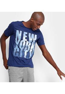 Camiseta Burn Ny City Masculina - Masculino-Marinho