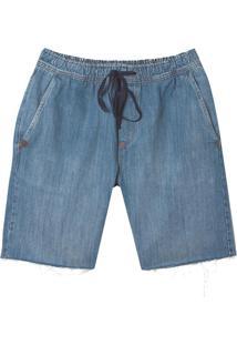 Bermuda John John Straight Atalaia Jeans Azul Masculina (Jeans Escuro, 38)