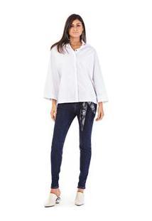 Camisa Manga Longa Tinturada Branco