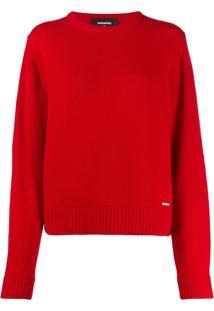 Dsquared2 Suéter Canelado - Vermelho