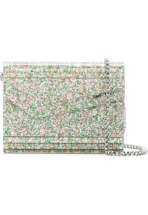 Jimmy Choo Bolsa Transversal Candy Com Aplicação De Brilho - Prateado