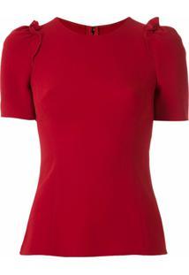 Dolce & Gabbana Blusa Com Mangas Franzidas - Vermelho
