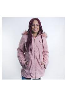 Jaqueta Anjuss Parka Rosa
