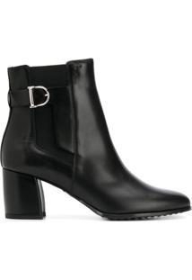 Tod'S Ankle Boot Com Aplicação De Fivela - Preto