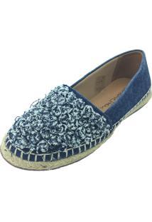 Alpargata Antonietta Flordi Jeans Azul