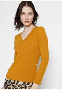 Blusa Lisa- Amarelo Escuro- Blessbless