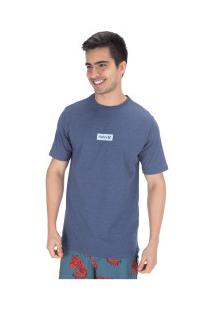 Camiseta Hurley Silk O&O Small Bo - Masculina - Azul