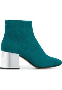 Mm6 Maison Margiela Ankle Boot De Couro - Azul