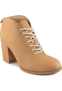 Ankle Boot Salto Bloco Inverno 2020 Sapato Show 05372