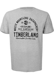 Camiseta Timberland Backpackers Masculina - Masculino-Mescla Claro