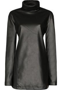We11Done Stand Collar Mini Dress - Preto